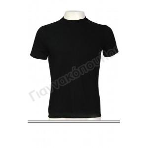Μπλούζα ανδρική ΜΙΝΕΡΒΑ ΜΑΥΡΗ βαμβακερή No2 & 7 Φανέλες, μπλούζες