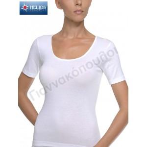 Γυναικειες Φανελες - Φανέλα γυναικεία ΗΛΙΟΣ κοντό μανίκι βαμβακερή Φανέλες, μπλούζες