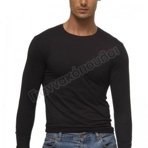 Μπλούζα ανδρική μακρύ μανίκι βαμβακερή Φανέλες, μπλούζες