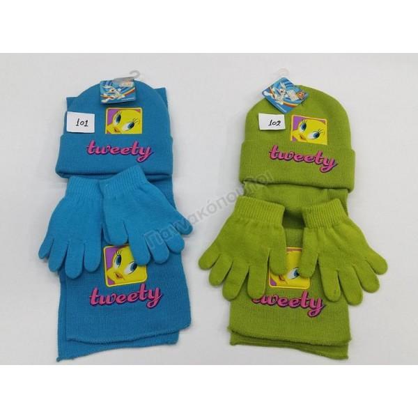 Παιδικα Αξεσουαρ - Σετ σκουφάκι κασκόλ γάντια κορίτσι Αξεσουάρ