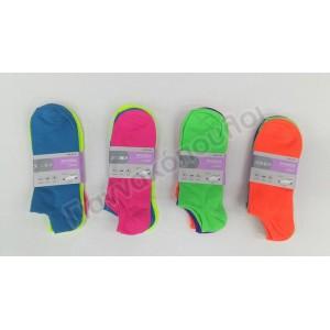 Κάλτσες γυναικείες  κοντές invisible 3αδα  χρώματα