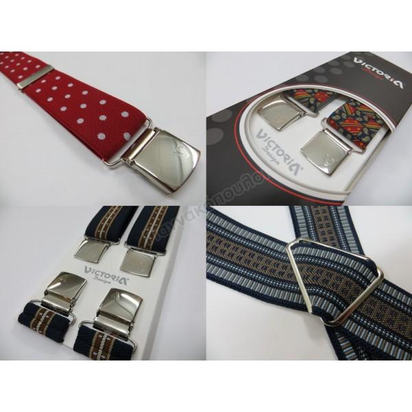 Τιράντες VICTORIA φαρδυές εμπριμέ 3.6 cm Τιράντες, γραβάτες