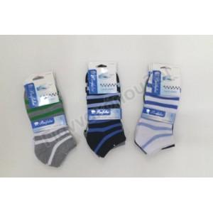 Κάλτσα ανδρική μίνι sport βαμβακερή one size σχέδια 3άδα Κάλτσες