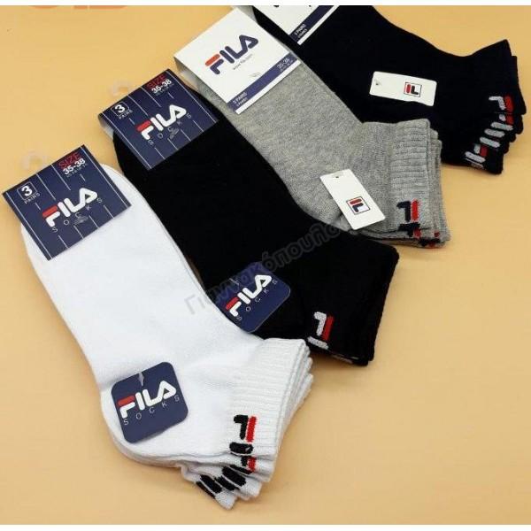 Κάλτσα ανδρική μίνι sport βαμβακερή FILA 3άδα  Κάλτσες
