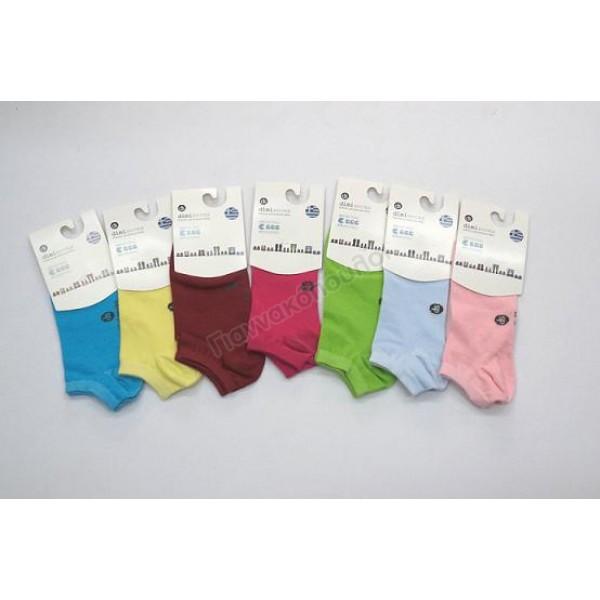 Κάλτσες γυναικείες κοντές invisible βαμβακερές χρώματα 3άδα