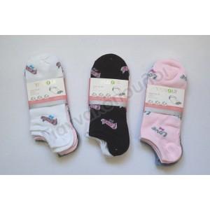 Κάλτσες γυναικείες κοντές invisible 3αδα Love Κάλτσες, καλτσάκια