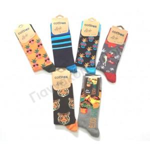 Κάλτσα ανδρική με σχέδιο  Κάλτσες