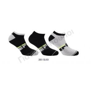 Κάλτσα ανδρική μίνι sport βαμβακερή FILA σχέδιο 3άδα