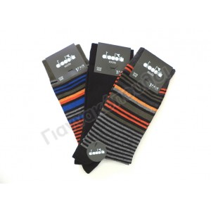 Κάλτσα ανδρική diadora ρίγες 3άδα
