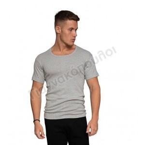 Φανέλα ανδρική ανοιχτός λαιμός Νina club βαμβακερή ΓΚΡΙ Φανέλες, μπλούζες