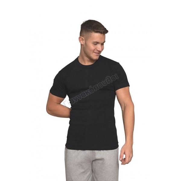 Μπλούζα ανδρική Νina club βαμβακερή μαύρη Φανέλες, μπλούζες