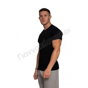 Φανέλα ανδρική ανοιχτός λαιμός Νina club βαμβακερή ΜΑΥΡΗ Φανέλες, μπλούζες