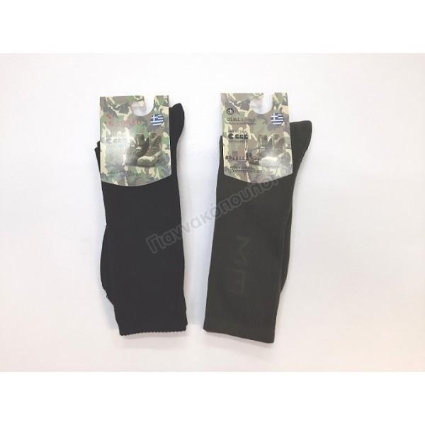 Κάλτσα ανδρική βαμβακερή Army Ισοθερμικά, μάλλινα