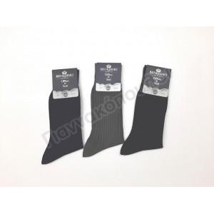 Κάλτσα ανδρική μερσεριζέ ριγέ βαμβακερή Κάλτσες