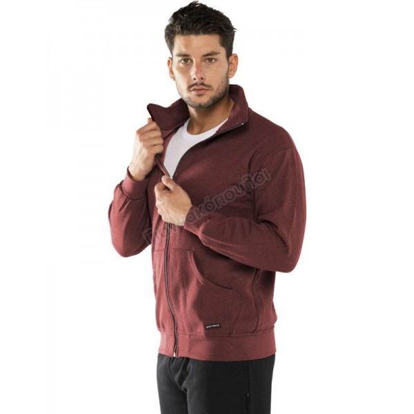 Ζακέτα φούτερ ανδρική γκρενά Φόρμες, βερμούδες, t-shirt