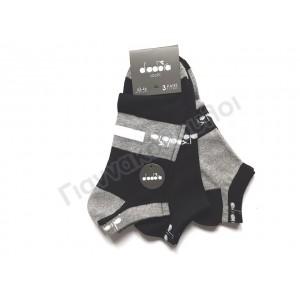 Κάλτσα ανδρική μίνι sport βαμβακερή diadora σχέδιο 3άδα
