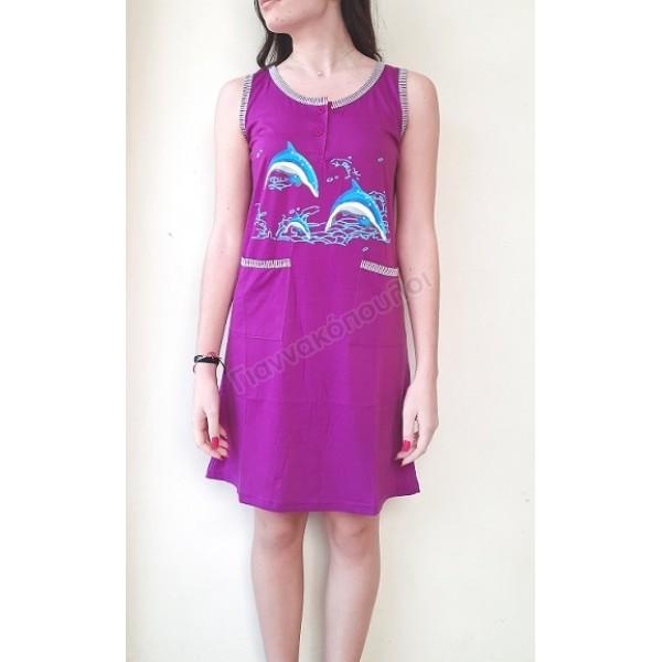 Φορεματάκι μακό με τσέπες δελφίνια Πυζάμες, νυχτικά, ρόμπες