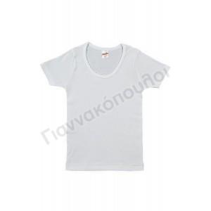 Φανελάκι ΜΙΝΕΡΒΑ για κορίτσι ΛΕΥΚΟ βαμβακερό 90-40770