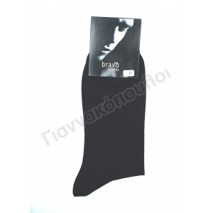 Κάλτσα ανδρική βαμβακερή μερσεριζέ BRAVO  Κάλτσες