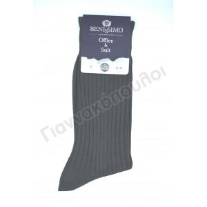 Κάλτσα ανδρική βαμβακερή μερσεριζέ Benissimo ριγέ  Κάλτσες