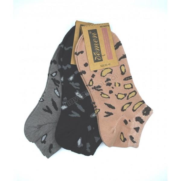 Κάλτσες γυναικείες κοντές invisible με σχέδια 3άδα Κάλτσες, καλτσάκια