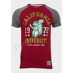 t shirt ανδρικό california κόκκινο Φανέλες, μπλούζες