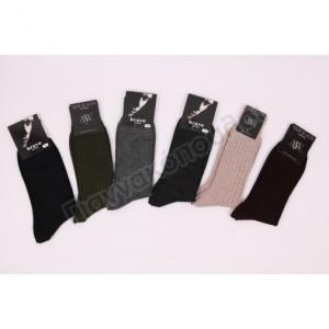 Ανδρικες Καλτσες - Κάλτσα ανδρική ριγέ μάλλινη Ισοθερμικά, μάλλινα